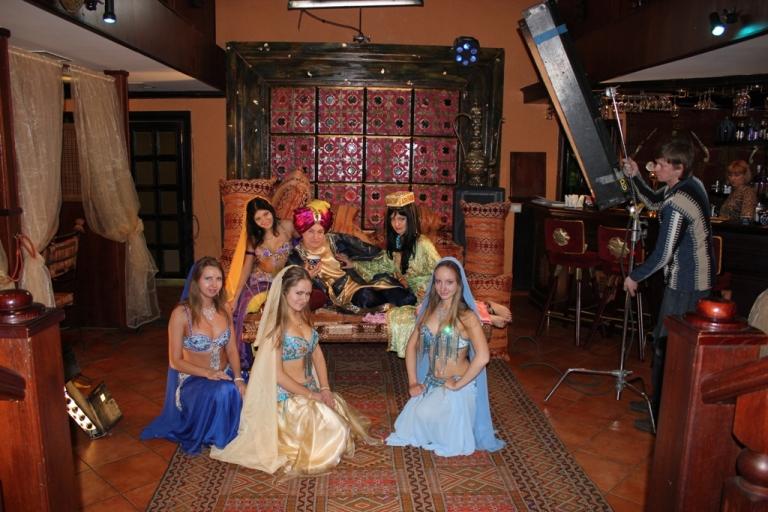 Аль-Джана на съемках фильма