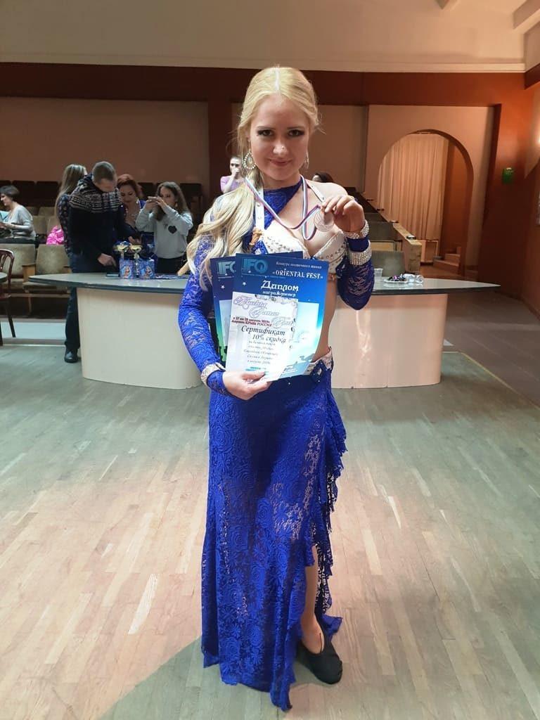 Анна Ечкина на конкурсе Ориентал фест
